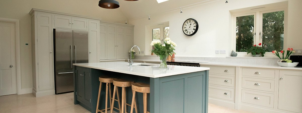 shaker kitchen with island