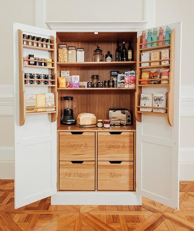 Larder Cupboards Traditional Pantry Cupboards The White Kitchen