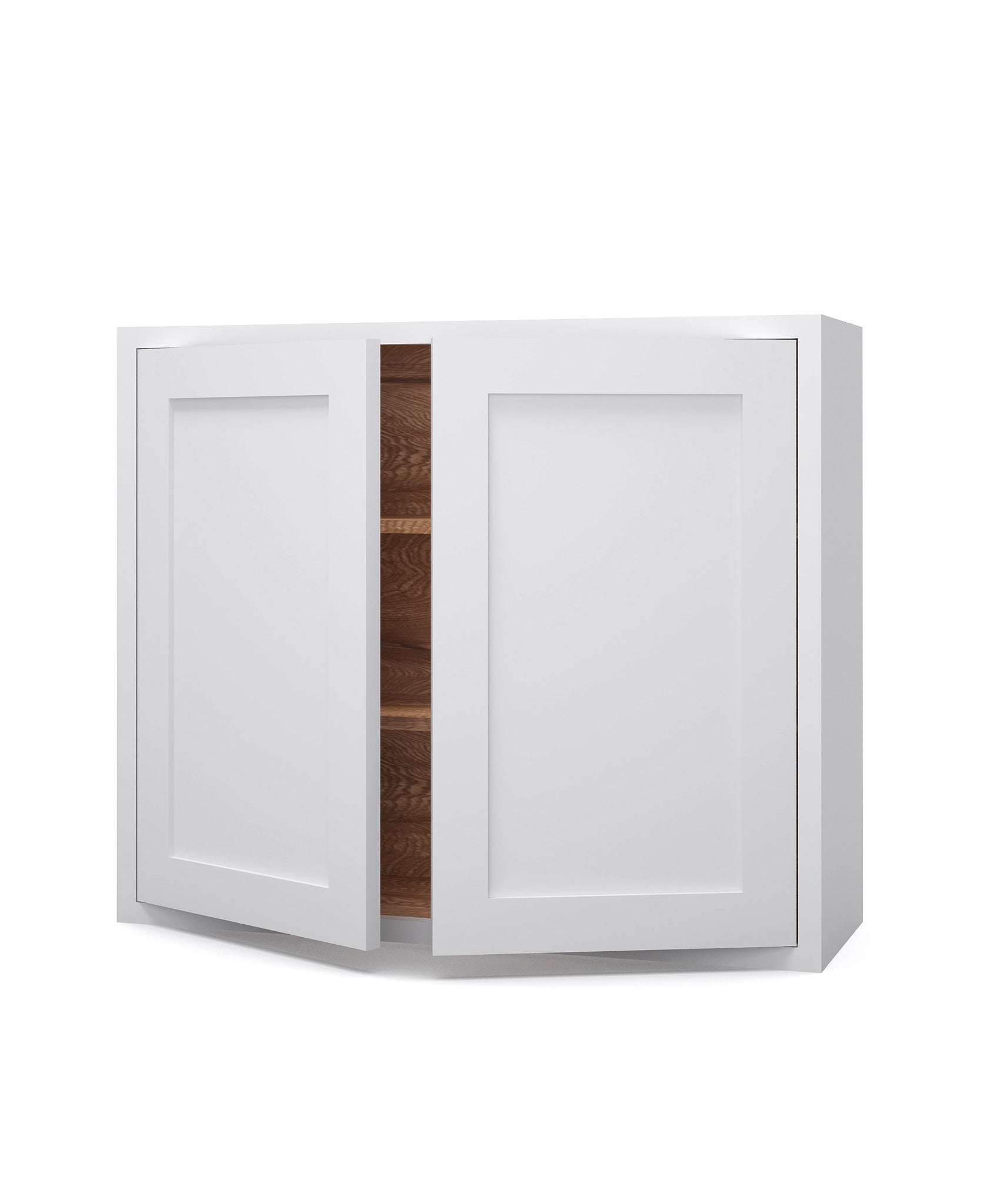 Double Door Wide Wall Cupboard   The White Kitchen Company