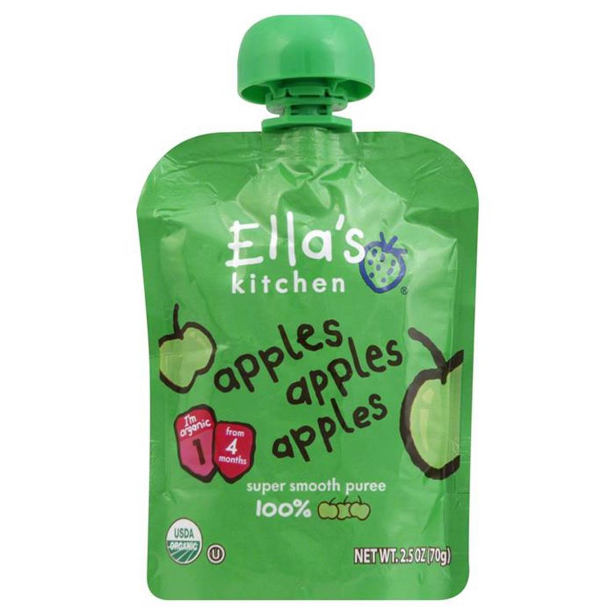 Ella's Kitchen Apples Apples Apples - 70g