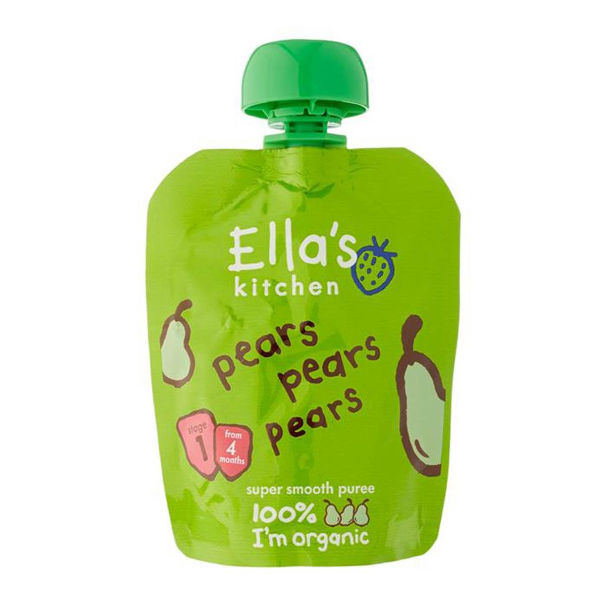Ella's Kitchen Pears Pears Pears - 70g