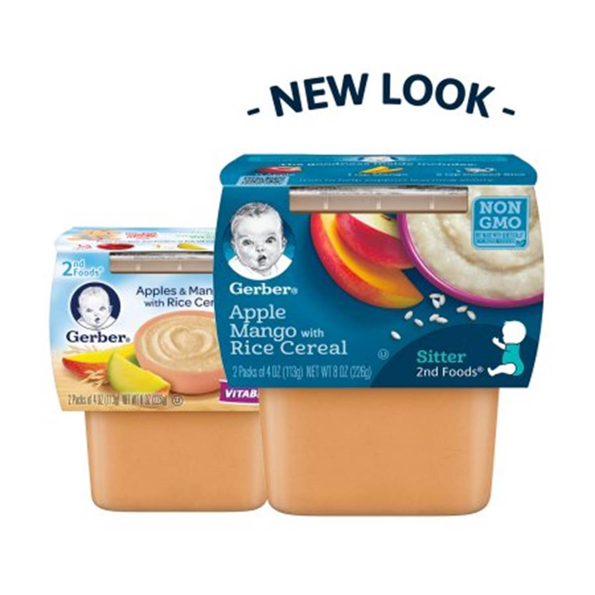 Gerber 2nd Foods 2pk 226g (8oz) - Apples Mangoes with Rice Cereal