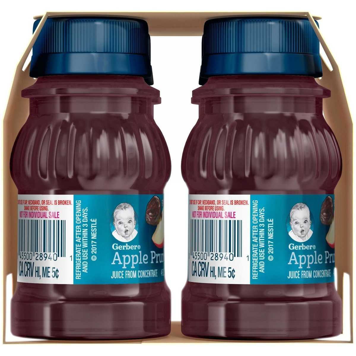 Gerber Juice 4Pk 473ml (16oz) - Apple Prune Juice (EXP 11-02-2020)