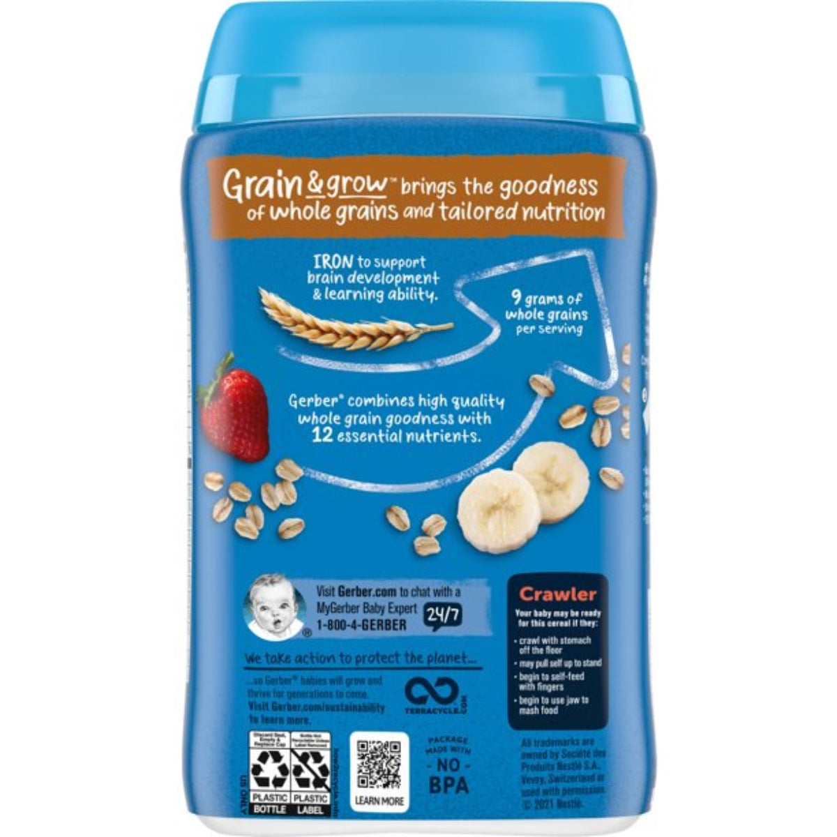 Gerber Lil' Bits 227g (8oz) - Oatmeal Banana Strawberry Cereal
