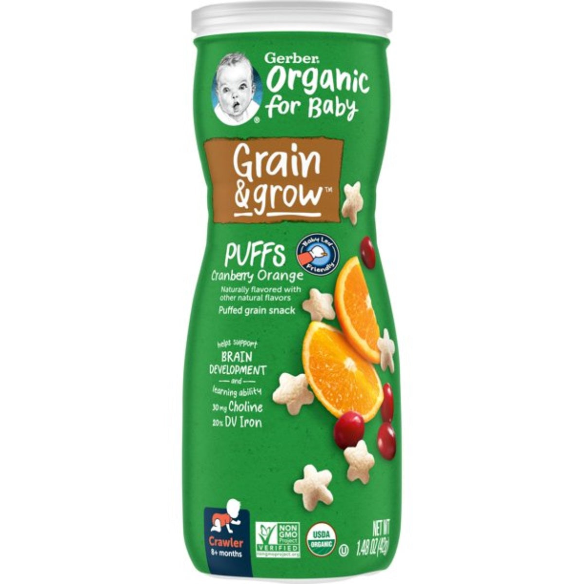 Gerber Organic Puffs 42G (1.48oz) - Cranberry Orange