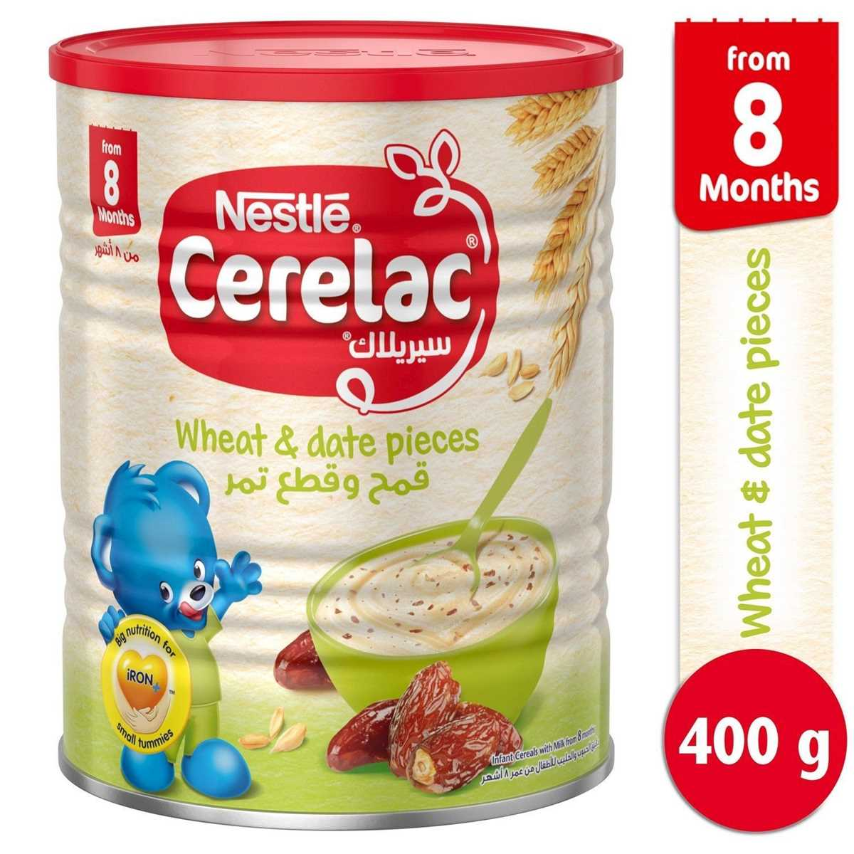 Nestle Cerelac Wheat & Date Pieces - 400g (Imported)