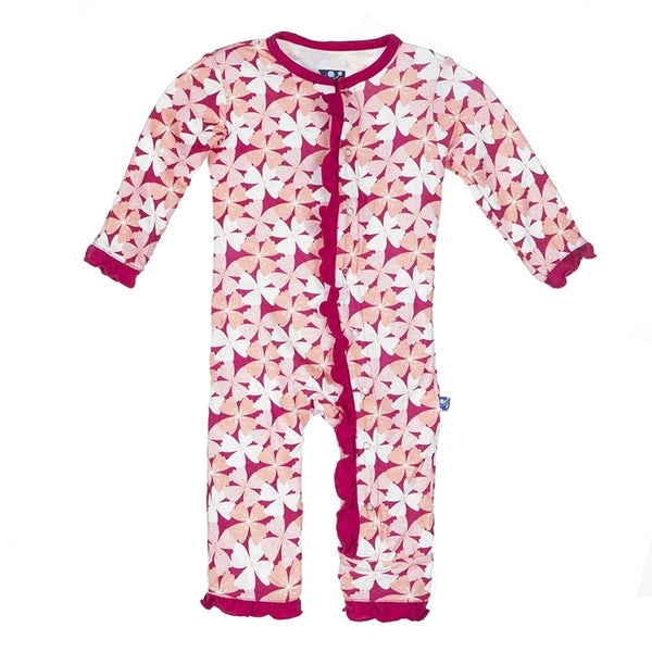 Ruffle Coverall in Apple Blossom
