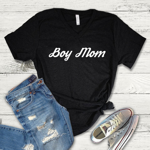 Boy Mom Shirt, Boy Mom Tee Shirt, Boy Mom V-Neck