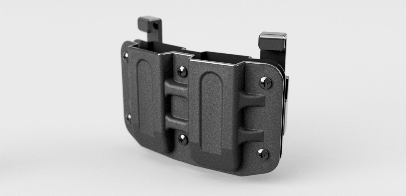 Double Mag Pouch carrier 9mm 40cal 357 ammo holder for Glock, Sig Sauer, Ruger, Smith and Wesson