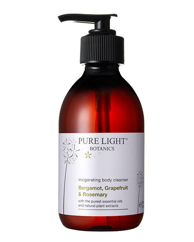 Invigorating Bergamot, Grapefruit & Rosemary Body Cleanser (250ml & 500ml) - Pure Light Botanics