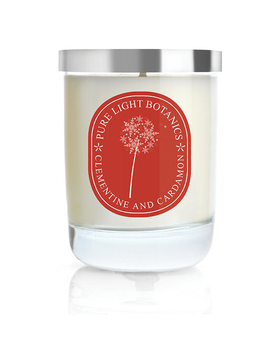 Clementine & Cardamon Christmas Candle - Pure Light Botanics - 1