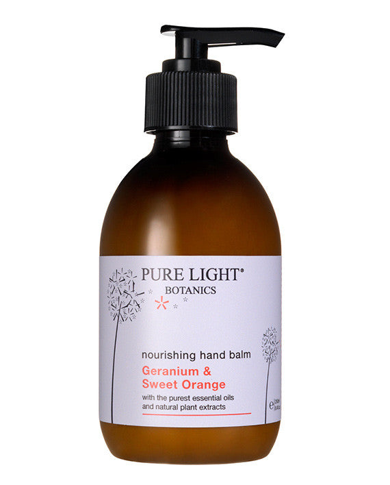 Nourishing Geranium & Sweet Orange Hand Balm (250ml) - Pure Light Botanics