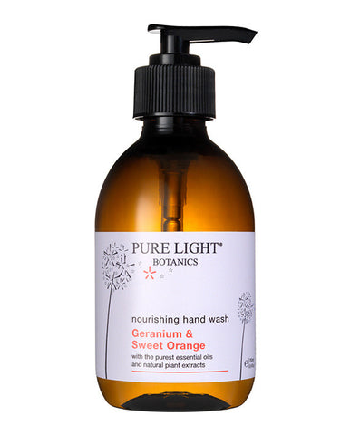 Nourishing Geranium & Sweet Orange Hand Wash (250ml) - Pure Light Botanics