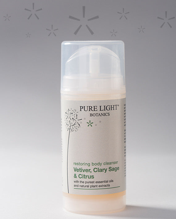 Restoring Vetiver, Clary Sage & Citrus Body Cleanser (100ML) - Pure Light Botanics