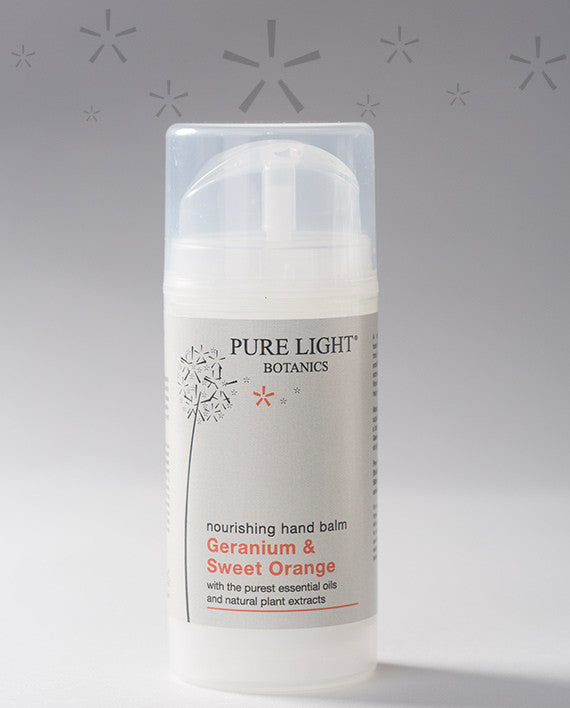 Nourishing Geranium & Sweet Orange Hand Balm (100ml) - Pure Light Botanics