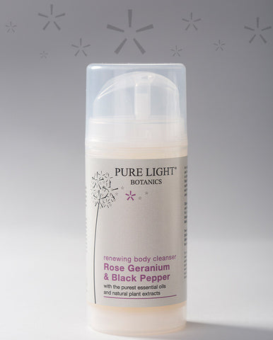 Renewing Rose Geranium & Black Pepper Body Cleanser (100ML) - Pure Light Botanics