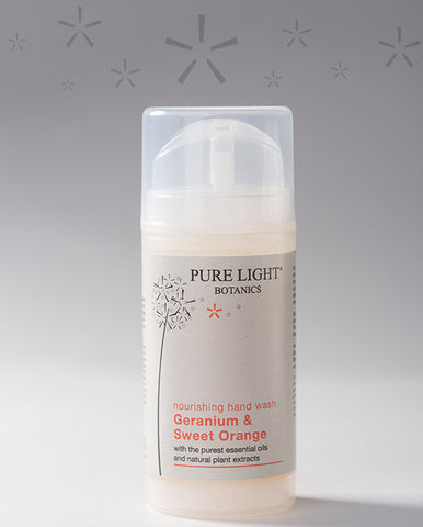 Nourishing Geranium & Sweet Orange Hand Wash (100ml) - Pure Light Botanics