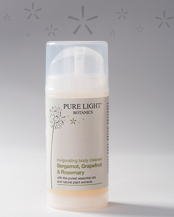 Invigorating Bergamot, Grapefruit & Rosemary Body Cleanser (100ml) - Pure Light Botanics