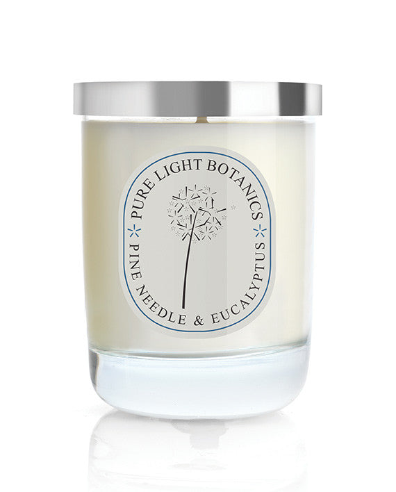 Uplifting Pine Needle & Eucalyptus Christmas Candle - Pure Light Botanics - 1