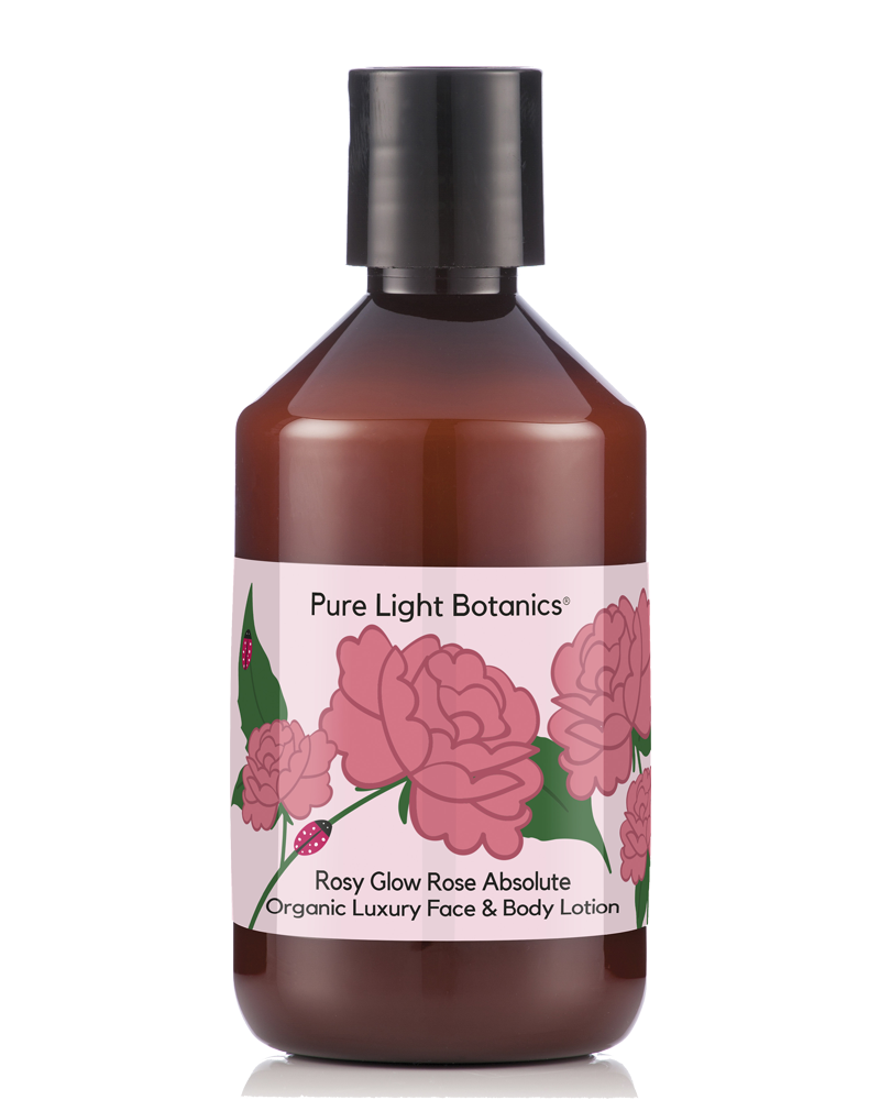 'Rosy Glow' Rose Absolute Organic Luxury Face & Body Lotion 250ml - Pure Light Botanics