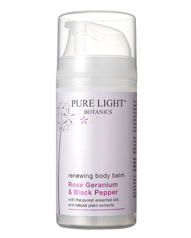 Renewing Rose Geranium & Black Pepper Body Balm (100ml) - Pure Light Botanics