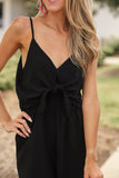 Heart Of Ties Jumpsuit - Black