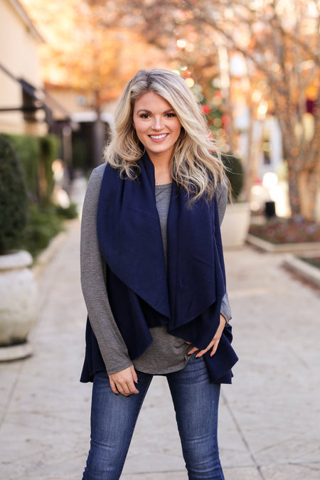 Perfect Shawl Vest - Black