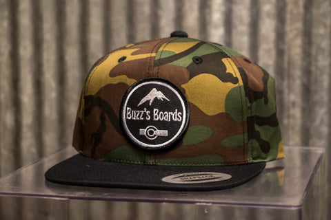 Buzz's Boards Patched Snapback Hat