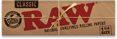 Raw Unrefined Classic 1.25 1 1/4 Size Cigarette Rolling Papers