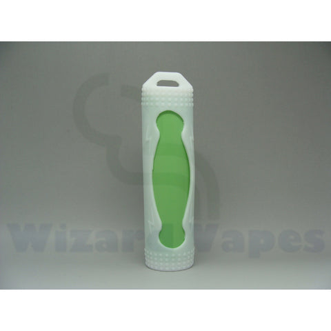 Protective Silcone Sleeve for 18650 Batteries (White)