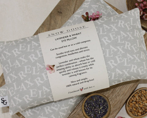 Lavender & Wheat Eye Pillows