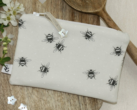 Bumble Bee Make-up Bag - grey