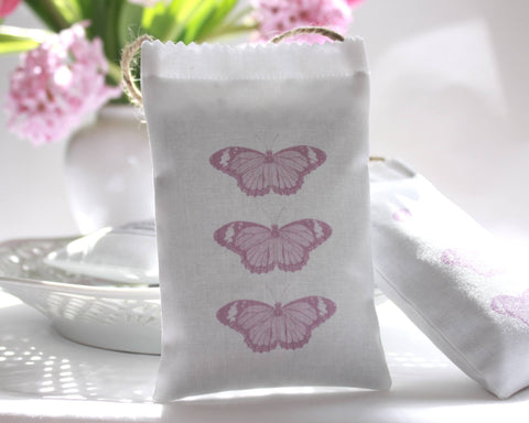 Butterfly Lavender Bag - pink