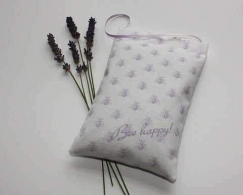 Bee Happy Lavender Bag - mauve