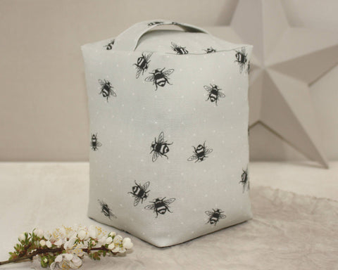 Bumble Bee Lavender Doorstop - grey