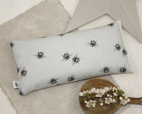 Bumble Bee Lavender & Wheat Eye Pillow - grey