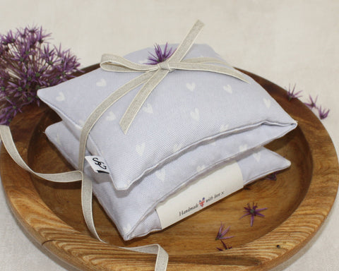 Hearts Lavender & Wheat Heat Bag - mauve