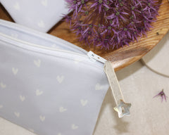Hearts Make-up Bag - mauve
