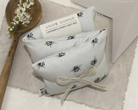 Bumble Bee Lavender & Wheat Heat Bag - grey