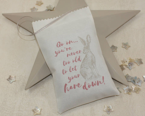 Let your hare down! Lavender Bag