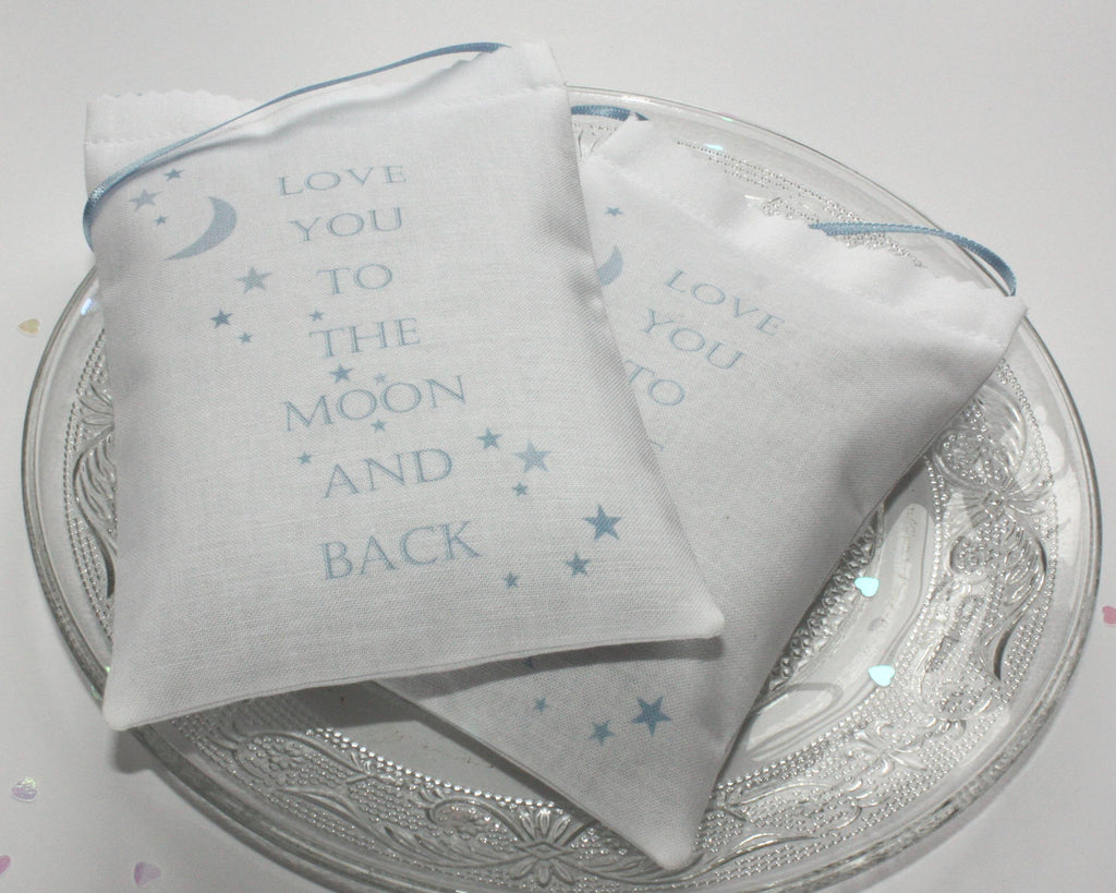 Love You to the Moon Lavender Bag - blue - Snow Goose UK  - 1