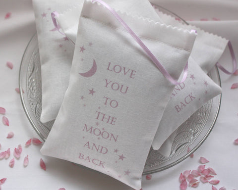 Love You to the Moon Lavender Bag - pink