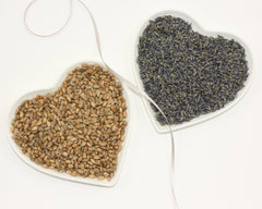 Hearts Lavender & Wheat Heat Bag - natural