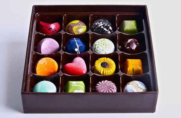 Hand-Painted Cielo Chocolate Bonbons (16 Piece Assorted Box)