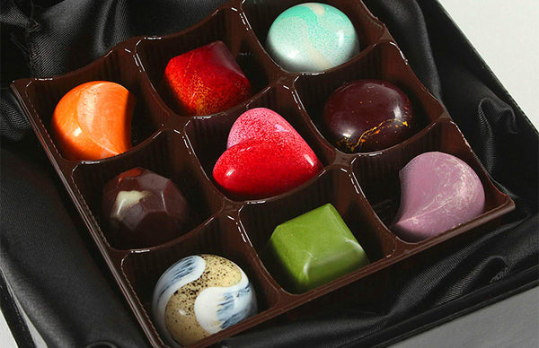 Hand-Painted Cielo Chocolate Bonbons (9 Piece Assorted Box)