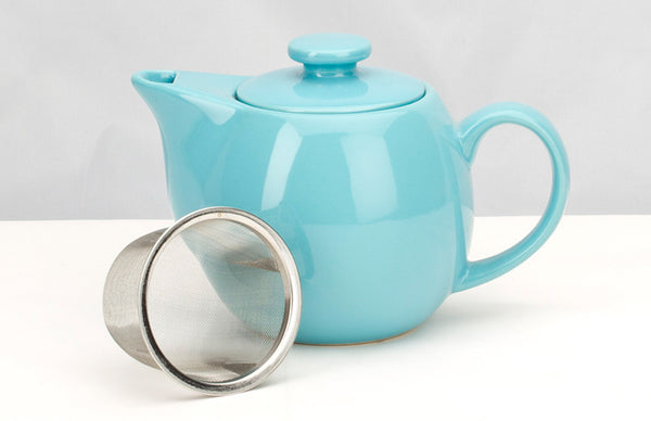 Blue Teapot with Mesh Infuser