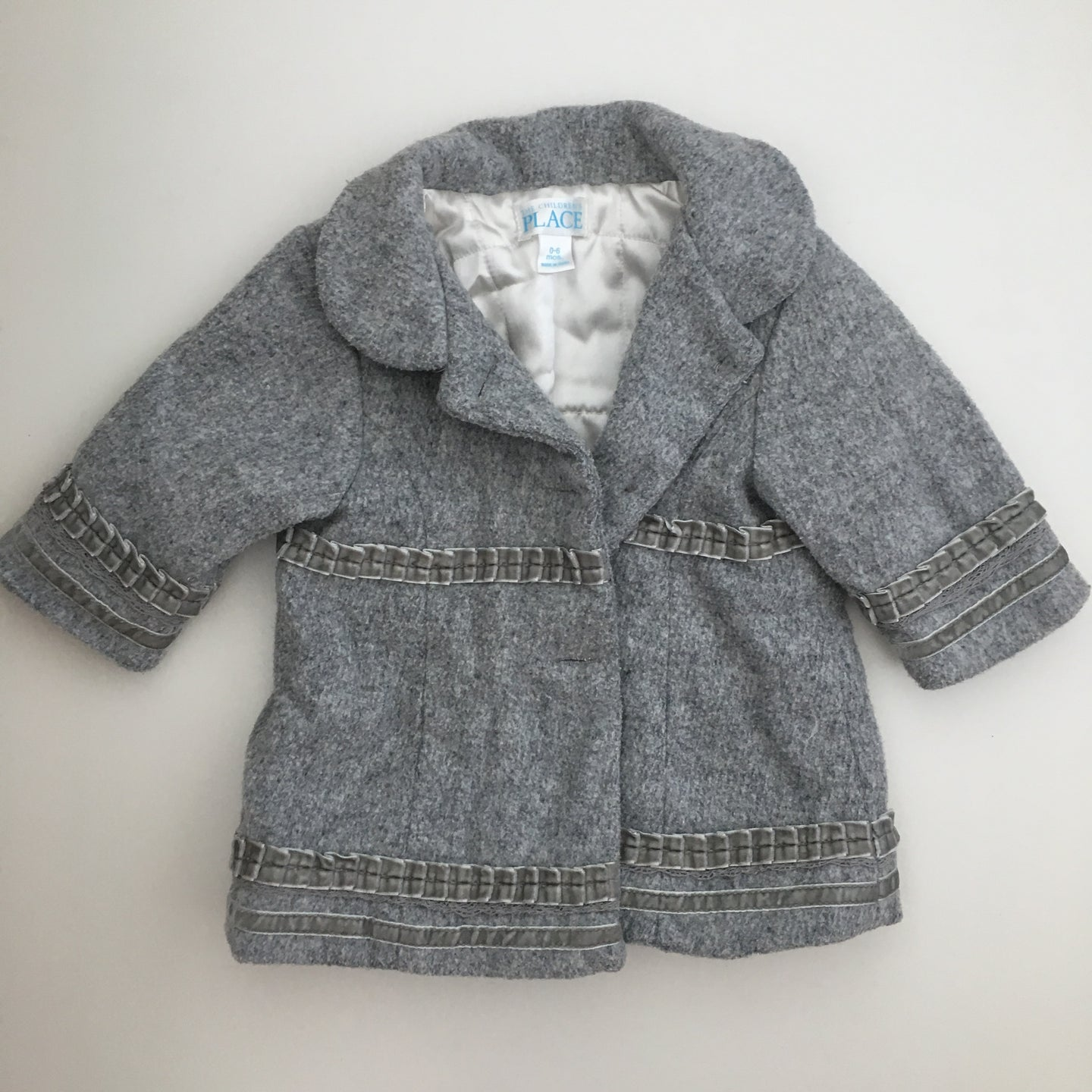 Children's Place grey peacoat