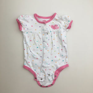 Carter's white hearts romper