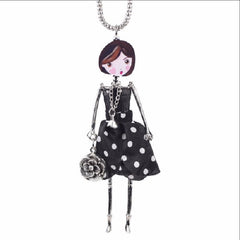 Doll Pendant Necklaces