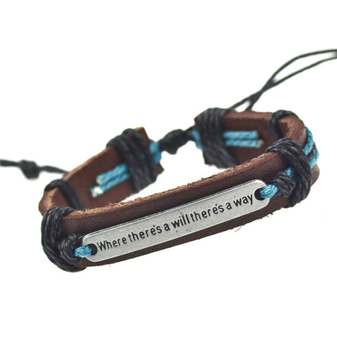 Brand New Genuine Leather Bracelets Men Bracelets for Women Gifts
